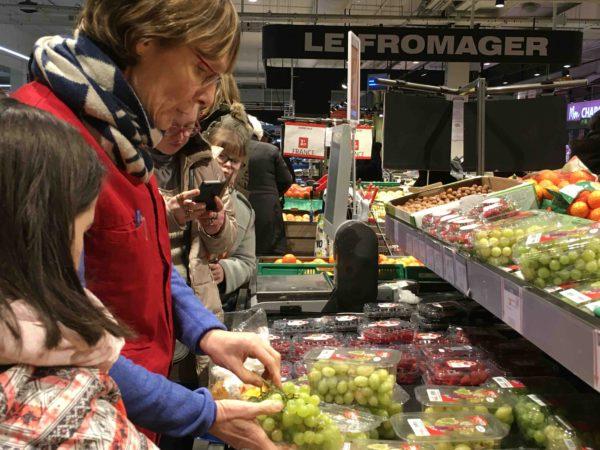 Etal de fruits & légumes Auchan 31