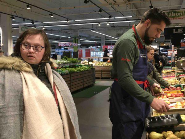 Etal de fruits & légumes Auchan 40