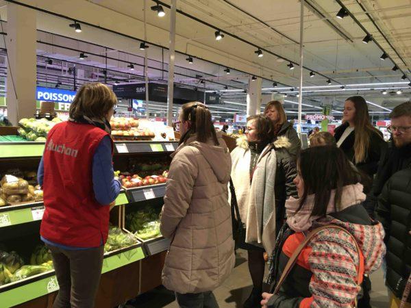 Etal de fruits & légumes Auchan 45