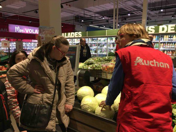 Etal de fruits & légumes Auchan 46