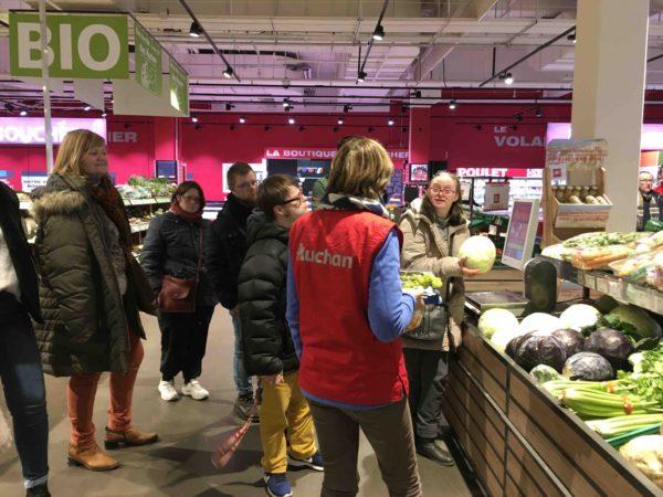 Etal de fruits & légumes Auchan 47