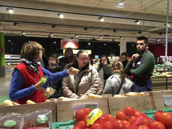 Etal de fruits & légumes Auchan 50