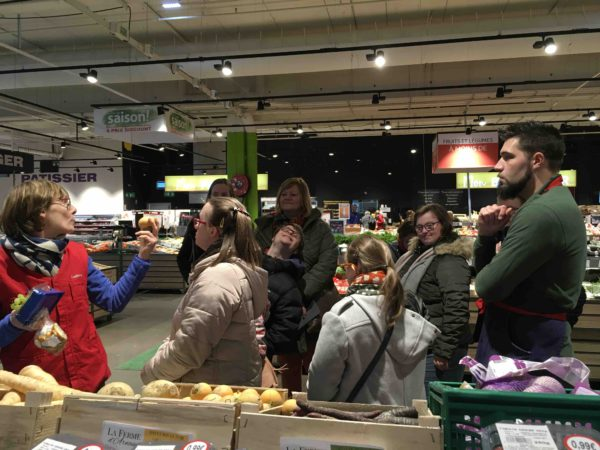 Etal de fruits & légumes Auchan 51