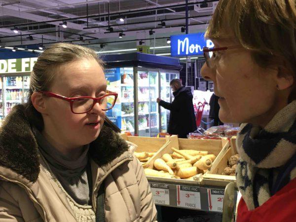 Etal de fruits & légumes Auchan 54
