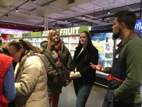 Etal de fruits & légumes Auchan 57